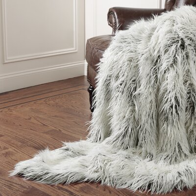 Wild Mannered Tibet Throw Blanket Size: 58 L x 60 W