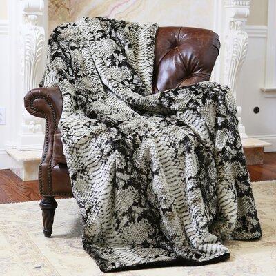 Wild Mannered Throw Blanket Size: 58 L x 84 W