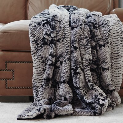 Wild Mannered Throw Blanket Size: 58 L x 60 W