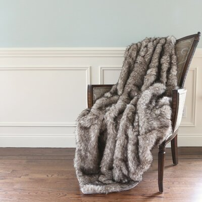 Faux Fur Lounge Throw Blanket Size: 60 L x 58 W