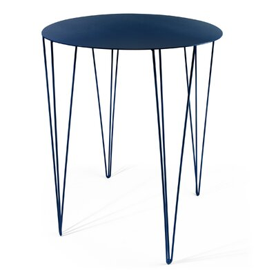 Chele Bistrot Table Color: Steel Blue