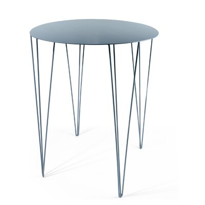 Chele Bistrot Table Color: Pigeon Blue