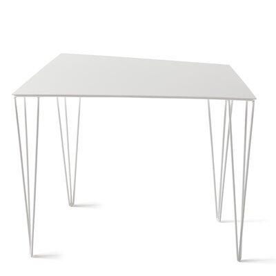 Chele Coffee Table Size: 17.63 H x 22 W x 11.38 D, Color: Signal White