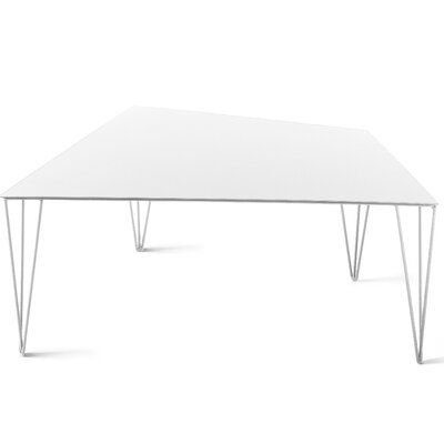 Chele Coffee Table Finish: Signal White, Size: 11.75 H x 26.75 W x 16.88 D