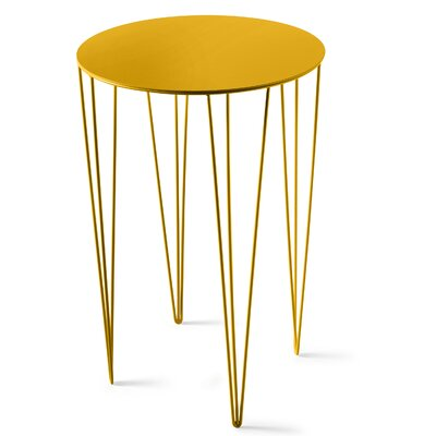 Chele Coffee Table Size: 23.5 H x 15.63 W x 15.63 D, Color: Traffic Yellow