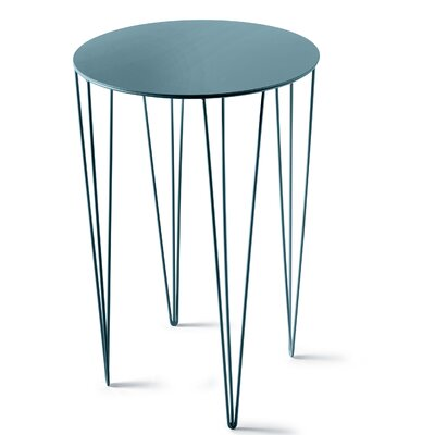 Chele Coffee Table Size: 23.5 H x 15.63 W x 15.63 D, Color: Turquoise Blue