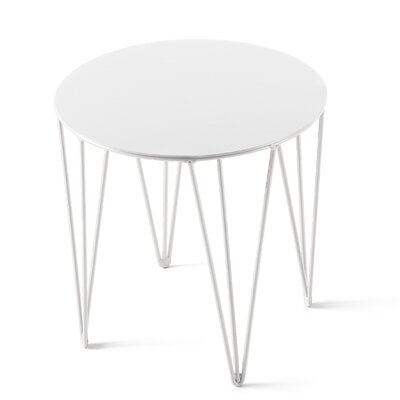 Chele Coffee Table Size: 11.75 H x 11.75 W x 11.75 D, Color: Signal White