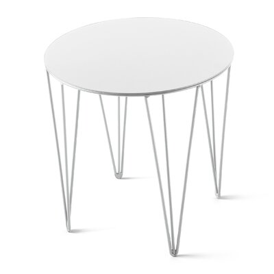 Chele Coffee Table Size: 13.75 H x 13.75 W x 13.75 D, Color: Signal White