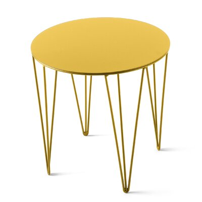 Chele Coffee Table Size: 13.75 H x 13.75 W x 13.75 D, Color: Traffic Yellow