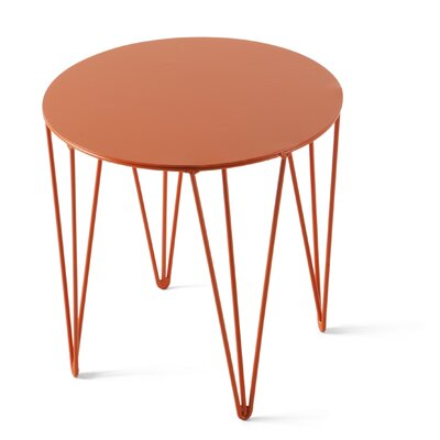 Chele Coffee Table Size: 11.75 H x 11.75 W x 11.75 D, Color: Traffic Orange