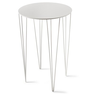 Chele Coffee Table Size: 23.5 H x 15.63 W x 15.63 D, Color: Signal White