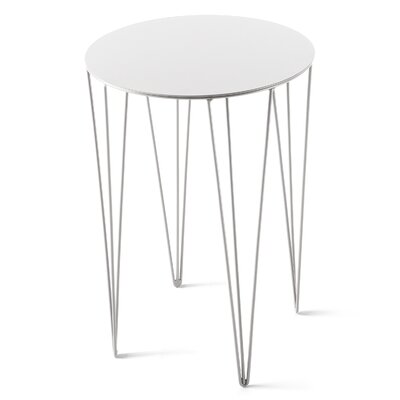 Chele Coffee Table Size: 19.63 H x 13.75 W x 13.75 D, Color: Signal White