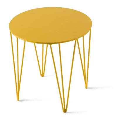 Chele Coffee Table Size: 11.75 H x 11.75 W x 11.75 D, Color: Traffic Yellow