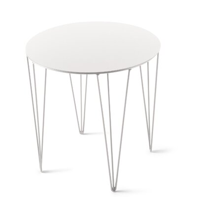 Chele Coffee Table Size: 15.63 H x 15.63 W x 15.63 D, Color: Signal White