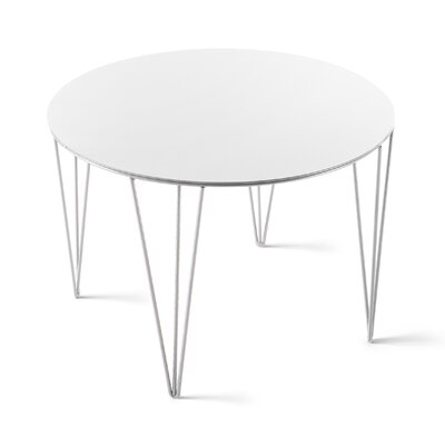 Chele Coffee Table Size: 13.75 H x 19.63 W x 19.63 D, Color: Signal White