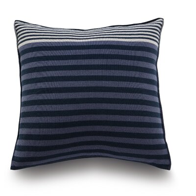 Longitudini Wool Throw Pillow Color: Ocean Blue
