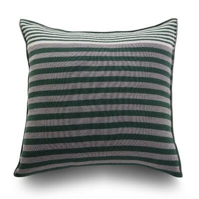 Longitudini Wool Throw Pillow Color: Forest Green