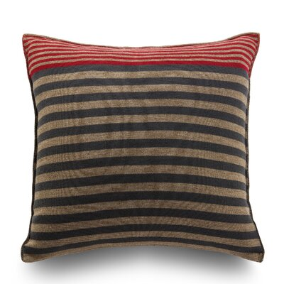 Longitudini Wool Throw Pillow Color: Terra Brown