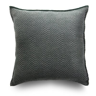 Spinato Wool Throw Pillow Color: Forest Green