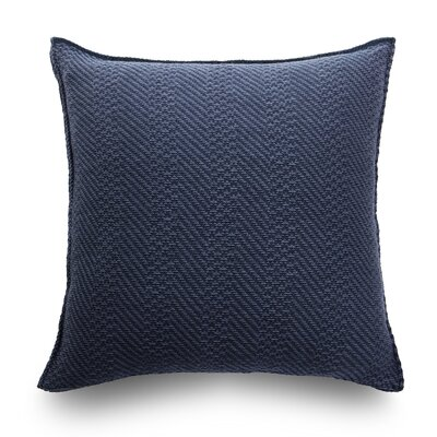 Spinato Wool Throw Pillow Color: Ocean Blue