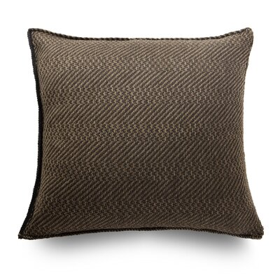 Spinato Wool Throw Pillow Color: Terra Brown