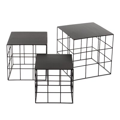 Reton 3 Piece Coffee Table Set Color: Jet Black