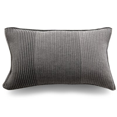 Spinatino Wool Lumbar Pillow Color: Lava Gray