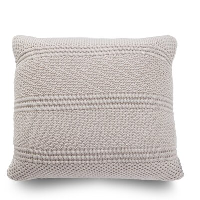 Intrecci Wool Throw Pillow Color: Sand