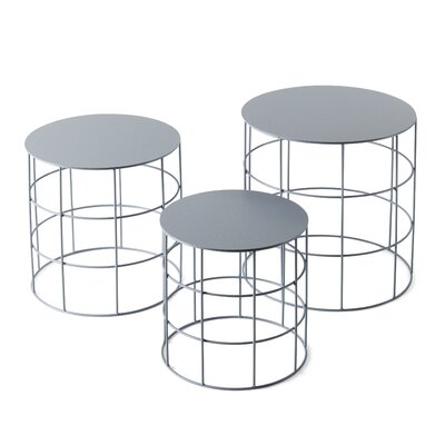Reton 3 Piece Coffee Table Set Color: Ash Gray