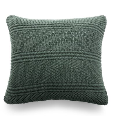 Intrecci Wool Throw Pillow Color: Forest Green