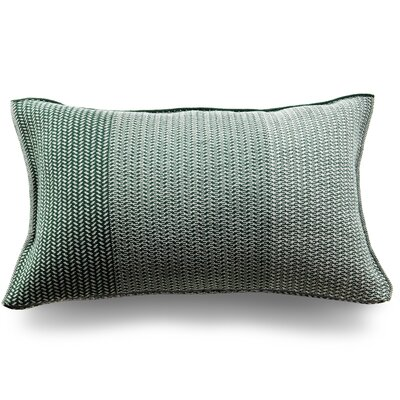 Spinatino Wool Lumbar Pillow Color: Forest Green