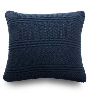 Intrecci Wool Throw Pillow Color: Ocean Blue