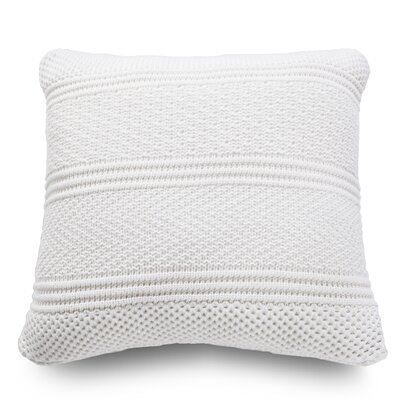 Intrecci Wool Throw Pillow Color: Snow White