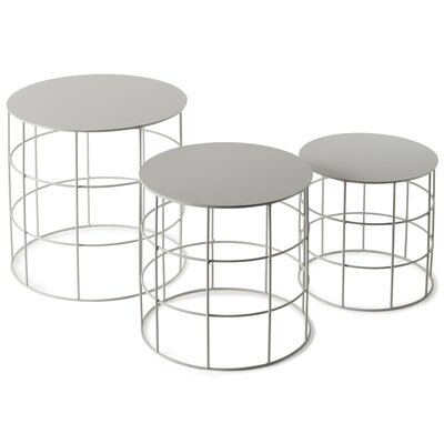 Reton 3 Piece Coffee Table Set Color: Signal White
