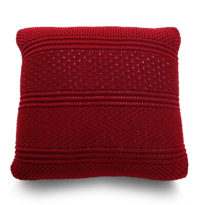 Intrecci Wool Throw Pillow Color: Flame Red