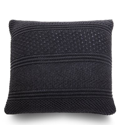 Intrecci Wool Throw Pillow Color: Lava Gray