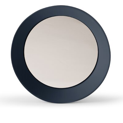 "Girotondo Mirror Size: 3.5"" H X 15.75"" W X 15.75"" D, Finish: Gray Blue"