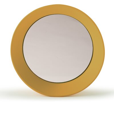 "Girotondo Mirror Size: 4.25"" H X 23.63"" W X 23.63"" D, Finish: Curry"
