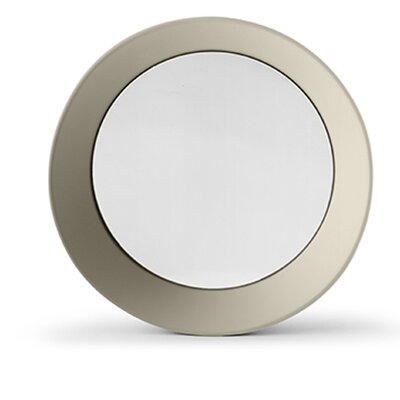 "Girotondo Mirror Size: 3.5"" H X 15.75"" W X 15.75"" D, Finish: Silk Gray"