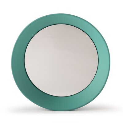 "Girotondo Mirror Size: 3.5"" H X 15.75"" W X 15.75"" D, Finish: Mint Green"