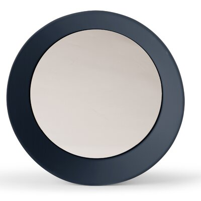 "Girotondo Mirror Size: 4.25"" H X 23.63"" W X 23.63"" D, Finish: Gray Blue"