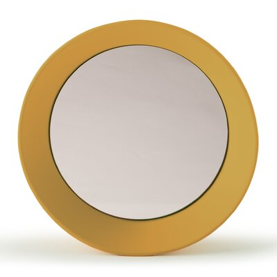 "Girotondo Mirror Size: 3.5"" H X 15.75"" W X 15.75"" D, Finish: Curry"