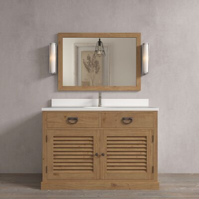 Riley 48 Single Bathroom Vanity Set Base Finish: Natural