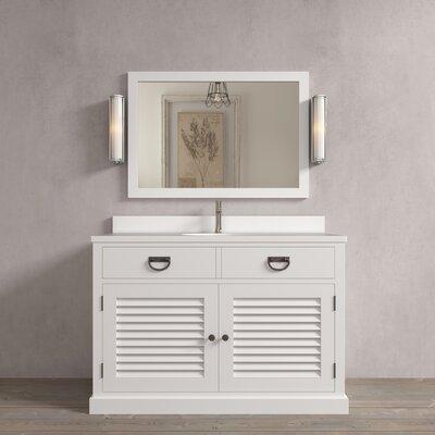 Riley 48 Single Bathroom Vanity Set Base Finish: White