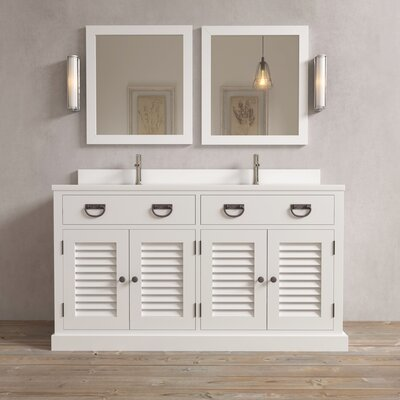 Stockport 63 Single Bathroom Vanity Base Finish: White