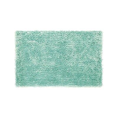 Abbie Chenille Bath Rug Color: Aqua, Size: 17 W x 24 L