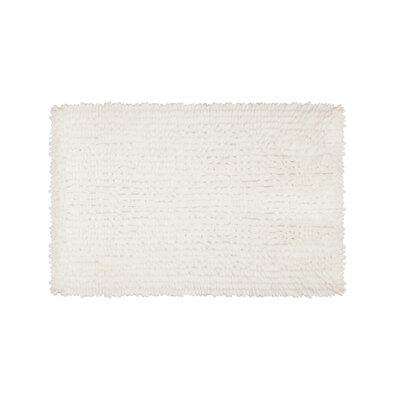 Abbie Chenille Bath Rug Size: 17 W x 24 L, Color: White