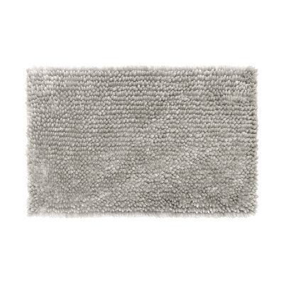 Abbie Chenille Bath Rug Color: Light Gray, Size: 21 W x 34 L