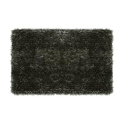 Abbie Chenille Bath Rug Color: Charcoal, Size: 21 W x 34 L