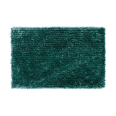 Abbie Chenille Bath Rug Color: Harbor Teal, Size: 21 W x 34 L